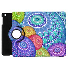 India Ornaments Mandala Balls Multicolored Apple Ipad Mini Flip 360 Case by EDDArt