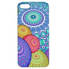 India Ornaments Mandala Balls Multicolored Apple Iphone 5 Hardshell Case With Stand by EDDArt