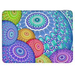 India Ornaments Mandala Balls Multicolored Samsung Galaxy Tab 7  P1000 Flip Case by EDDArt