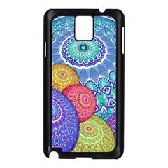 India Ornaments Mandala Balls Multicolored Samsung Galaxy Note 3 N9005 Case (black) by EDDArt