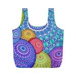 India Ornaments Mandala Balls Multicolored Full Print Recycle Bags (M)