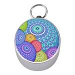 India Ornaments Mandala Balls Multicolored Mini Silver Compasses