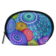 India Ornaments Mandala Balls Multicolored Accessory Pouches (medium)  by EDDArt