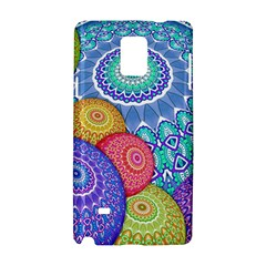 India Ornaments Mandala Balls Multicolored Samsung Galaxy Note 4 Hardshell Case by EDDArt