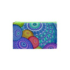 India Ornaments Mandala Balls Multicolored Cosmetic Bag (xs) by EDDArt