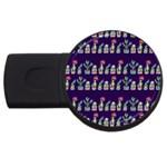 Cute Cactus Blossom USB Flash Drive Round (4 GB)
