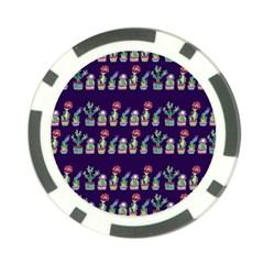 Cute Cactus Blossom Poker Chip Card Guards (10 Pack)  by DanaeStudio