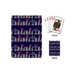 Cute Cactus Blossom Playing Cards (mini)  by DanaeStudio