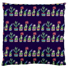 Cute Cactus Blossom Large Cushion Case (two Sides) by DanaeStudio