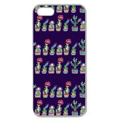 Cute Cactus Blossom Apple Seamless Iphone 5 Case (clear) by DanaeStudio