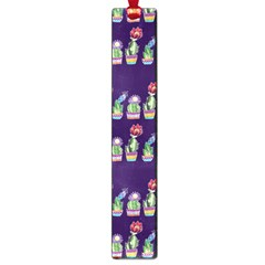 Cute Cactus Blossom Large Book Marks by DanaeStudio