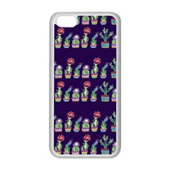 Cute Cactus Blossom Apple Iphone 5c Seamless Case (white) by DanaeStudio