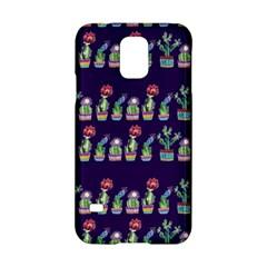 Cute Cactus Blossom Samsung Galaxy S5 Hardshell Case  by DanaeStudio