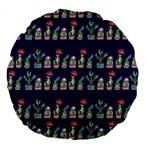 Cute Cactus Blossom Large 18  Premium Flano Round Cushions