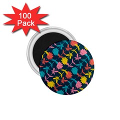 Colorful Floral Pattern 1 75  Magnets (100 Pack)  by DanaeStudio