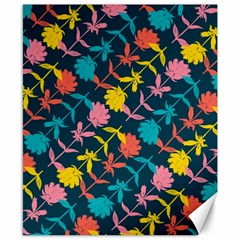 Colorful Floral Pattern Canvas 8  X 10  by DanaeStudio