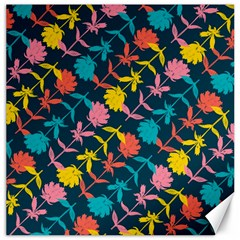 Colorful Floral Pattern Canvas 12  X 12   by DanaeStudio