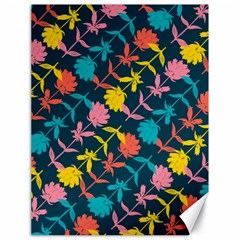Colorful Floral Pattern Canvas 18  X 24   by DanaeStudio