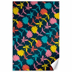Colorful Floral Pattern Canvas 24  X 36  by DanaeStudio