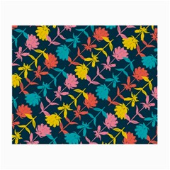 Colorful Floral Pattern Small Glasses Cloth (2 Side) by DanaeStudio