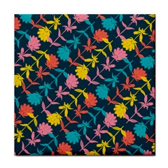Colorful Floral Pattern Face Towel by DanaeStudio
