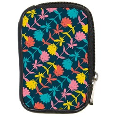 Colorful Floral Pattern Compact Camera Cases by DanaeStudio