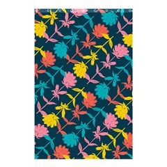 Colorful Floral Pattern Shower Curtain 48  X 72  (small)  by DanaeStudio