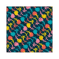 Colorful Floral Pattern Acrylic Tangram Puzzle (6  X 6 ) by DanaeStudio