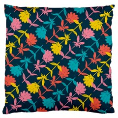 Colorful Floral Pattern Large Cushion Case (two Sides) by DanaeStudio