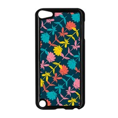 Colorful Floral Pattern Apple Ipod Touch 5 Case (black) by DanaeStudio