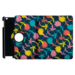 Colorful Floral Pattern Apple iPad 3/4 Flip 360 Case by DanaeStudio