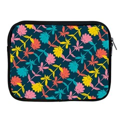 Colorful Floral Pattern Apple Ipad 2/3/4 Zipper Cases by DanaeStudio