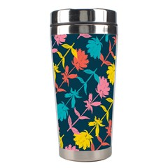 Colorful Floral Pattern Stainless Steel Travel Tumblers by DanaeStudio