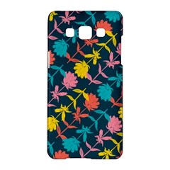 Colorful Floral Pattern Samsung Galaxy A5 Hardshell Case  by DanaeStudio