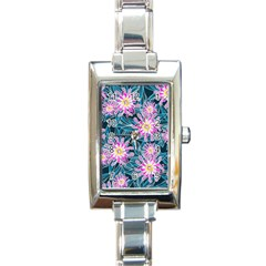 Whimsical Garden Rectangle Italian Charm Watch by DanaeStudio