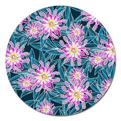 Whimsical Garden Magnet 5  (round) by DanaeStudio