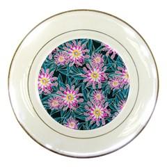 Whimsical Garden Porcelain Plates by DanaeStudio