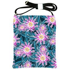 Whimsical Garden Shoulder Sling Bags by DanaeStudio