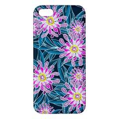Whimsical Garden Apple Iphone 5 Premium Hardshell Case by DanaeStudio