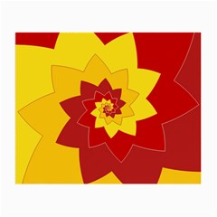 Flower Blossom Spiral Design  Red Yellow Small Glasses Cloth by designworld65
