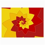 Flower Blossom Spiral Design  Red Yellow Large Glasses Cloth