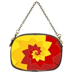 Flower Blossom Spiral Design  Red Yellow Chain Purses (Two Sides)