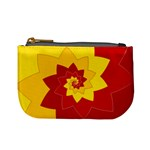 Flower Blossom Spiral Design  Red Yellow Mini Coin Purses