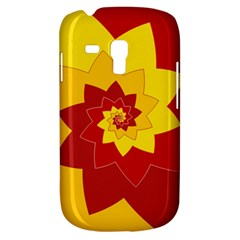 Flower Blossom Spiral Design  Red Yellow Samsung Galaxy S3 Mini I8190 Hardshell Case by designworld65