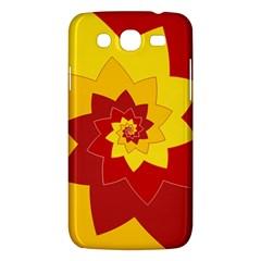 Flower Blossom Spiral Design  Red Yellow Samsung Galaxy Mega 5 8 I9152 Hardshell Case  by designworld65