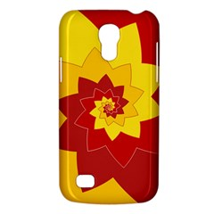 Flower Blossom Spiral Design  Red Yellow Galaxy S4 Mini by designworld65