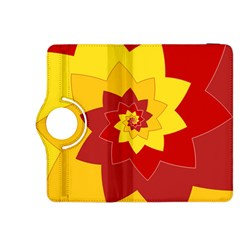 Flower Blossom Spiral Design  Red Yellow Kindle Fire Hdx 8 9  Flip 360 Case by designworld65