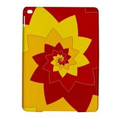 Flower Blossom Spiral Design  Red Yellow Ipad Air 2 Hardshell Cases by designworld65