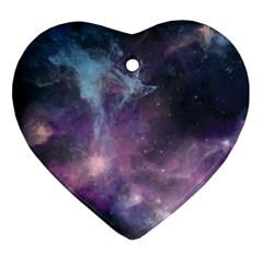 Blue Galaxy  Ornament (heart)  by DanaeStudio