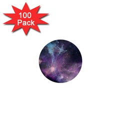 Blue Galaxy  1  Mini Buttons (100 Pack)  by DanaeStudio